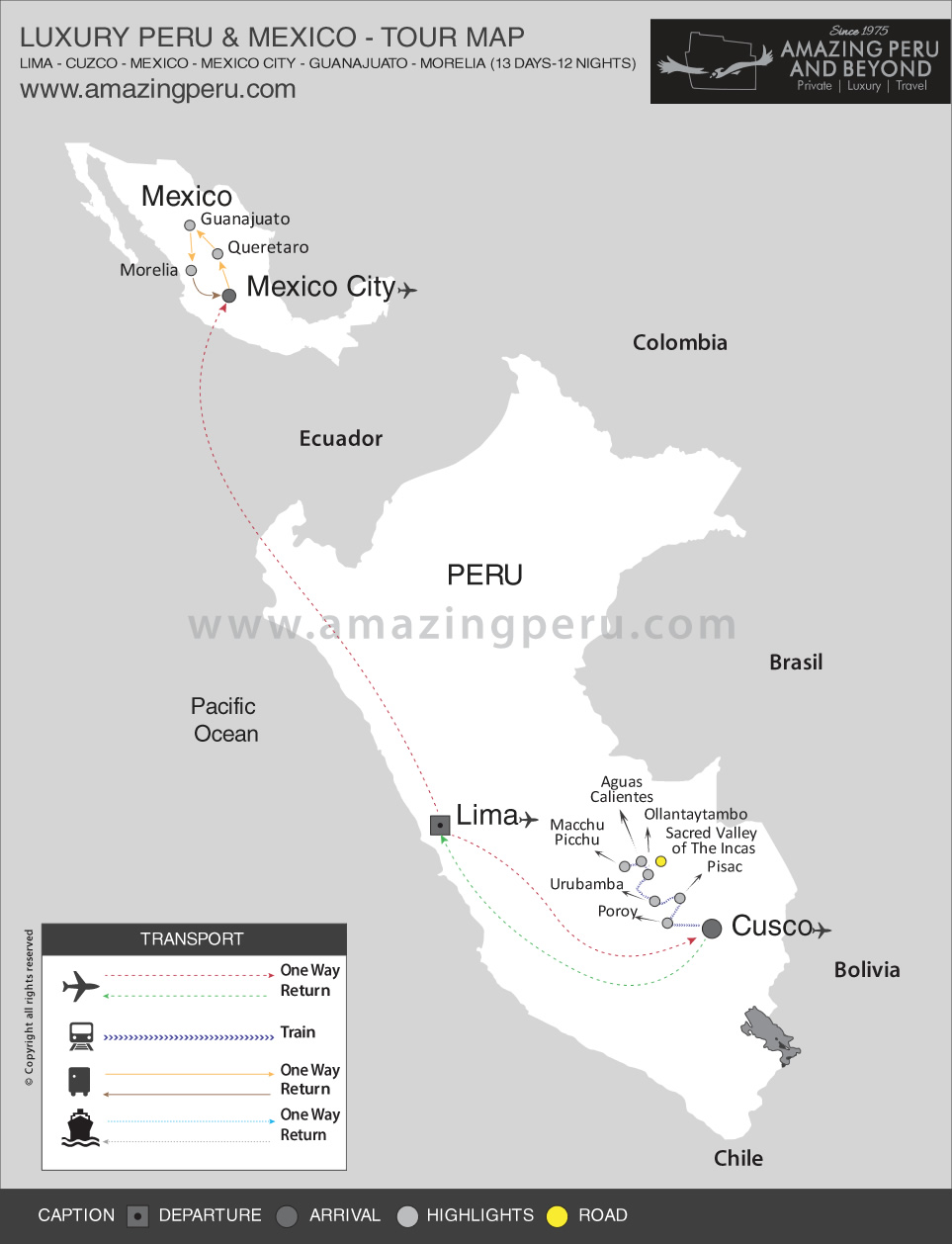 Luxury 13 Day Peru & Mexico - 13 days / 12 nights.