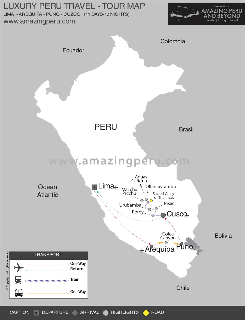Luxury Southern Peru Tour - Option 1 - 11 days / 10 nights.