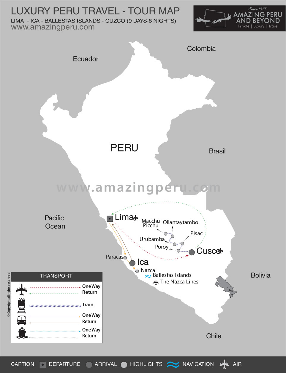 Luxury Peru Jewels Tour - 11 days / 10 nights.