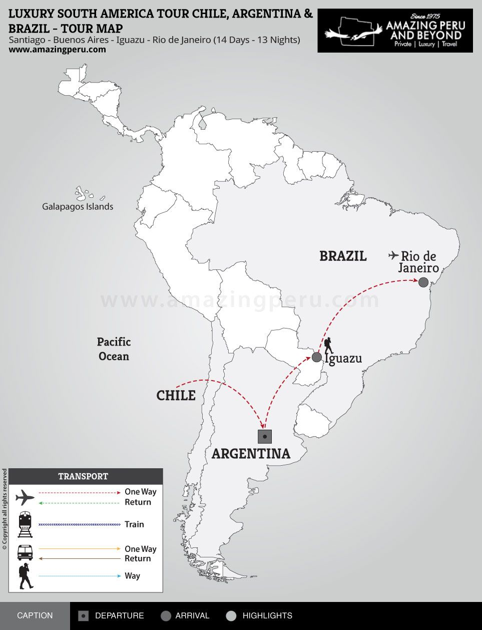 Luxury South America Tour - 14 days / 13 nights.