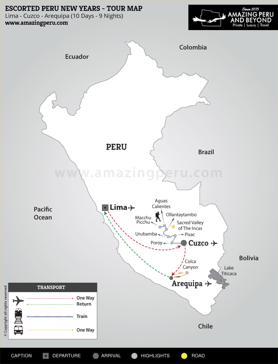 2020-21 Escorted Peru New Years 2 - 10 days / 9 nights.