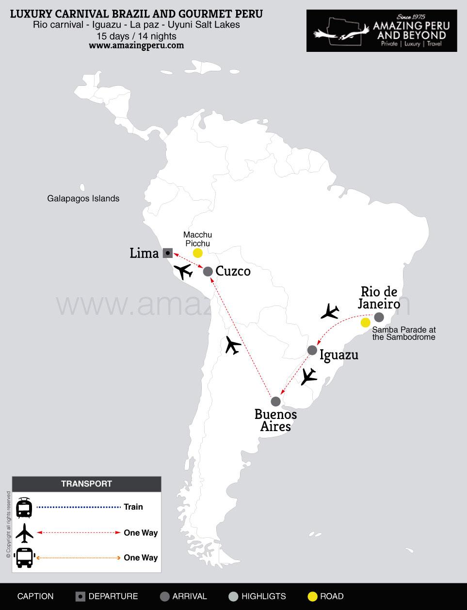 2019 Luxury Carnival Brazil And Gourmet Peru